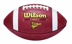 Wilson 1005 NCAA Leather Game Football by Wilson. $70.54. Amazon.com                The Wilson F1005 NCAA Game Ball is designed for collegiate competitive play and offers a host of features to provide you with the best all-purpose football available. The new, improved 899 WE leather with tanned-in tack and deep pebble design combined with the 1005 small pattern and deep channels provide great gripability. Wilson's advanced Accurate Control Lacing System (ACL) replaces ...