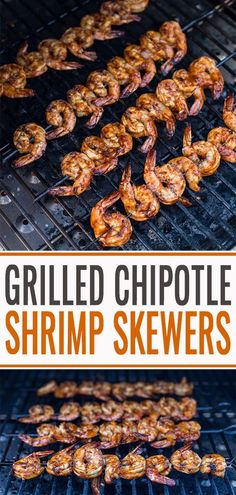 Easy and fast recipe for delicious grilled shrimp marinated in a spicy and sweet chipotle honey lime marinade quickly grilled to perfection. Perfect for summer grilling season or taco night. #shrimpskewers #grilledshrimp #shrimpmarinade #vindulge