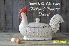 Exceptional Chicken & Rooster Decor! SHOP TODAY AT: www.GershwinandGertie.com