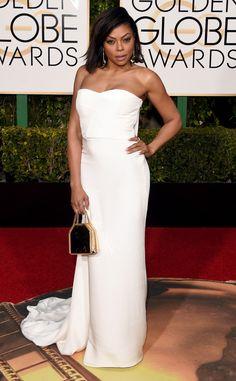 2016 Golden Globes Red Carpet Arrivals Taraji P. Henson, Golden Globe Awards In Stella McCartney