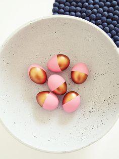 Paaseieren - Ahoj-2012 glückliche Ostereier Kupfer/Pastell,3St - Een uniek product van Ahoj-2012 op DaWanda