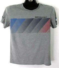 fd6fa90db Puma BMW Motorsport Graphic Short Sleeve Gray T-Shirt Size Medium #fashion # clothing