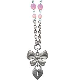 Retro & Vintage Jewelry & Accessories Bow Lock Sweet & Petite Necklace - Rockware Short Necklaces - Rockware - Shop by Collection