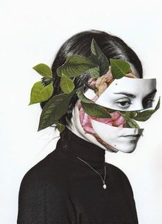 collage ; een voorstelling gemaakt met losse stukjes materiaal, bijvoorbeeld papier.