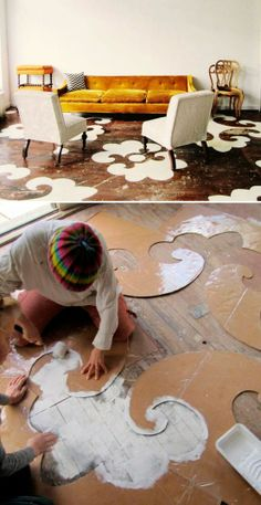 Floor art! Ideas are everywhere... More