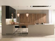 Download the catalogue and request prices of Filoantis By euromobil, fitted kitchen with island design Roberto Gobbo