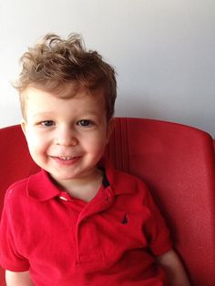 Cute haircut & hairstyle for toddler boy (my 20 month old) short on sides but longish on top to showcase his wavy/curly , beautiful hair :-)