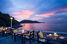 Experience over the water dining at the Jetty, Amari Phuket, Phuket, Thailand.