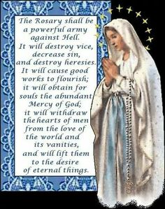 From God Our Lady.Pray the Rosary. Pray without ceasing. Rosary Prayer, Praying The Rosary, Holy Rosary, Rosary Catholic, Catholic Prayers, Novena Prayers, Angel Prayers, Prayer Book, Daily Prayer