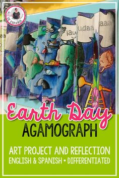 April 22 is Earth Day. This low stress activity also provides a great opportunity for written reflection. In this agamograph art project, kids work in pairs or individually to color a clean Earth and a polluted Earth. An amazing 3D effect displays the two images from a different angle. Both English and Spanish versions are included. Upper Elementary and Middle School students will enjoy this dual language resource. Middle School Spanish, Middle School Art, School Fun, School Ideas, Spanish Lesson Plans, Spanish Lessons, Spanish 1, Spanish Class, Earth Day Activities