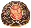 Engraved Army Military Ring