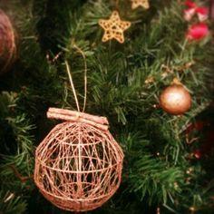 Detalles de decoración navideña