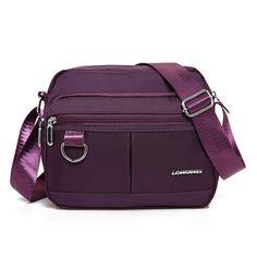 a28ca146e47b Hot-sale designer Women Men Nylon Multi-pockets Crossbody Bag Outdoor  Travel Shoulder Bag