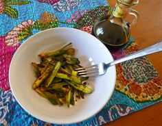 Roasted Cow Parsnip Stalks with Balsamic Vinegar | Laurie Constantino