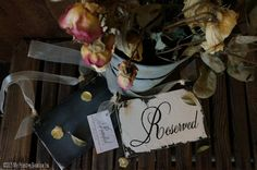 VINTAGE RESERVED Chair Hangers, Shabby Chic Wedding Signs, Cottage Wedding Sign, Set of 2, Vintage Wedding Signs