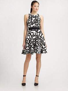 Graphic with racerback - Milly - Circle Fit-&-Flare Dress - Saks.com