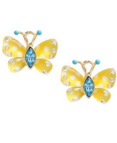 Betsey Johnson Earrings, Butterfly Stud Earrings - Fashion Earrings - Jewelry & Watches - Macy's