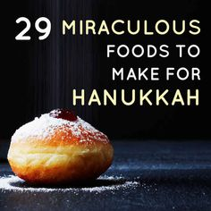 29 Miraculous Foods To Make For Hanukkah. God, I love my people and their delici… 29 Miraculous Foods To Make For Hanukkah. God, I love my people and their delicious, delicious food. Holiday Treats, Holiday Recipes, Hanukkah Recipes, Kosher Recipes, Cooking Recipes, Catering Recipes, Catering Ideas, Pate On Toast, Comida Judaica