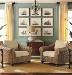 The sophisticated coastal look of St. Maarten is as inviting next to a leather sofa as it is next to a reading chair.
