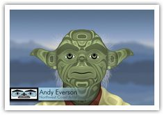 Star Wars, Native Style: Andy Everson Uses Characters To Criticize BC Treaty Process Native Style, Native Art, Totem Pole Art, Star Wars Classroom, Indigenous Art, First Nations, Visual Identity, Art World, Nativity