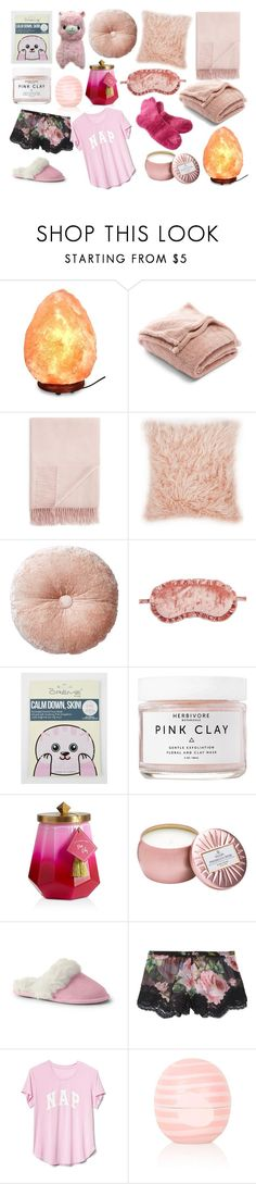 """""""Pink & Pajamas (Winter)"""" by positivepetals ❤ liked on Polyvore featuring Nordstrom Rack, Fraas, Chelsea28, Herbivore, Alöe, Illume, Voluspa, Lands' End, Dolce&Gabbana and Gap"""
