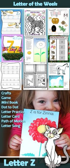 Zazzle-Dazzle, we have a letter Z letter of the Week packet  here. Let's talk about this fun letter Z.             We begin ...