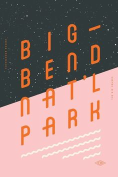 type and layout inspiration Type Hike is a collaborative design project that take a look at the US national parks from a typographic perspective. 60 designers have each created a poster about a national park, type being the m… Layout Design, Graphisches Design, Flyer Design, Branding Design, Print Design, Creative Design, Design Logo, Booth Design, Interior Design