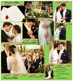 Fan Made: Edward and Bella Wedding Collage - TwiFans-Twilight Saga books and Movie Fansite