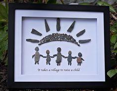 Pebble art by www.saltandpebbles.com