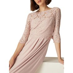 BuyPhase Eight Portia Lace Maxi Dress, Pink Petal, 6 Online at johnlewis.com