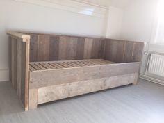 Bedbank van steigerhout, uitschuifbaar naar 2persoons | KSK Steigerhout