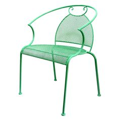 Mesh Wrought Iron Stack able Chair- Mint Green                                                                                                                                                                                 More