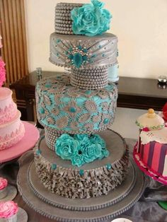 A Silver and Teal Beauty ♥♥♥