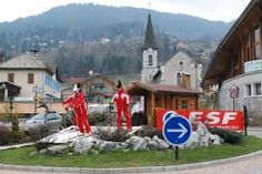 French roundabout in Haute Savoie