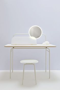 Studio WM - MORNING DEW - DRESSING TABLE. The Morning Dew Table is designed for your daily care and well being rituals
