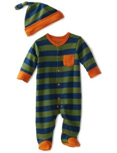 Amazon.com: Offspring - Baby Boys Footie and Hat: Clothing