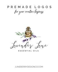 Essential Oils Lavender Logo Design Premade No. Shop Icon, Gold Logo, Shop Logo, Text Color, Business Names, Signature Logo, Logos, Creative Business, Lavender