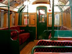 As well as looking lovely, these trains smell lovely too - though that may well be a fairly recent application of varnish. Vintage London, Old London, Tube Stations London, My Beautiful Laundrette, Metropolitan Line, London Underground Tube, Tube Train, Metro Paris, Metro Subway