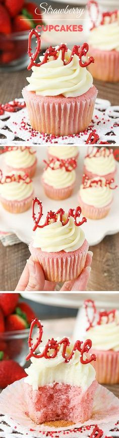 Get the recipe ♥ Strawberry Cupcakes #recipes @recipes_to_go
