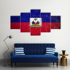 The flag of haiti canvas wall art by Tiaracle is printed using High-Quality materials for an elegant finish. We are the specialists in ready-to-hang modern home décor canvas prints perfect for country lovers. We offer 30 days money back guarantee. Teen Room Decor, Diy Room Decor, Wall Decor, Home Decor, Big Wall Art, Canvas Wall Art, Canvas Prints, Haiti History, Indian Flag Wallpaper