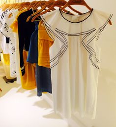 Interesting shoulder and sleeve details at Chloe kids fashion for spring/summer 2015