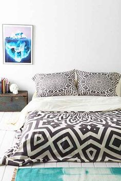 Lisa Argyropoulos For DENY Helena Duvet Cover - Urban Outfitters Duvet Covers Urban Outfitters, Home Bedroom, Master Bedroom, Bedrooms, Bedroom Ideas, Bedroom Inspiration, Black Rooms, Home Decor Signs, New Room