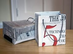 How to make gift bags from newspaper - Jessica Jones great DIY