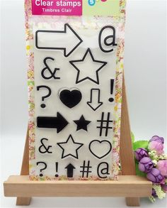 a113d4584c74 Kinds of Arrow Star Heart Transparent Clear Stamp DIY Silicone Seals  Scrapbooking Card Making Photo Album Decoration Accessories