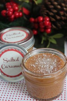 Salted Caramel Sauce - Great for gifting! - Quadrupled recipe:  filled 11 - half-pint jars, with 12 oz. of sauce in each jar.