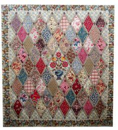 Wonderful Diamond pieced quilt