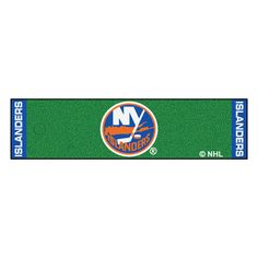 "New York Islanders Putting Green Mat - Officially licensed putting green runner. Realistic putting surface. 11 on the Stimp meter. Chromojet-printed nylon surface with vinyl backing. Can be used as a runner when not practicing. Comes with plastic target and flag. FANMATS Series: PUTTINGTeam Series: NHL - New York IslandersProduct Dimensions: 18""x72""Shipping Dimensions: 18""x6""x6"". Gifts > Licensed Gifts > Nhl > New York Islanders. Weight: 7.60"