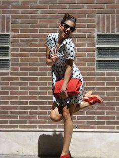 Modaxatodas Outfit  vestido pin up  Verano 2012. Cómo vestirse y combinar según Modaxatodas el 29-8-2012