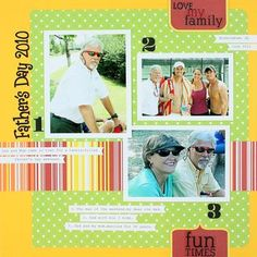 Father's Day Scrapbooking Layout - Creative Memories Traditional Tuesday May 22, 2012 #fathersday #scrapbooking