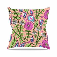 18 by 18 Kess InHouse NL Designs Vintage Bird Nature Throw Pillow